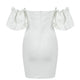 White Bandage Dress HB7268 3