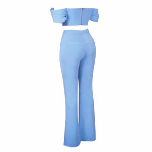 Blue Bodycon Set ML0717 5