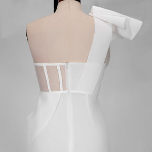 Backless Frill Asymmetrical Bodycon Dress FSY19327 6 in wolddress