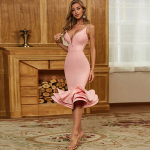 Pink Bandage Dress PZC467 1