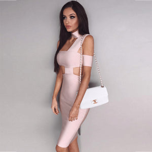 Halter Sleeveless Cut out Midi Bandage Dress SP015 32 in wolddress