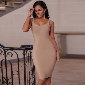 𝐍𝐞𝐰𝐂𝐨𝐥𝐨𝐫 | Strappy Sleeveless Backless Bandage Dress PK19124