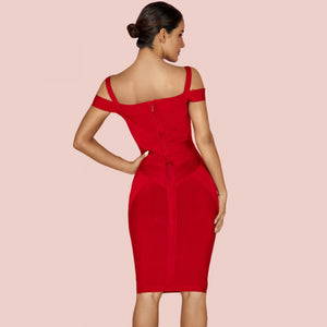 Strappy Short Sleeve Striped Over Knee Bandage Dress PF19168 4 in wolddress