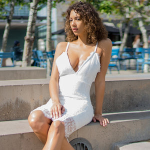V Neck Sleeveless Lace Up Over Knee Bandage Dress HI949 3 in wolddress
