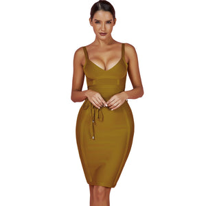Strappy Sleeveless Lace Up Mini Bandage Dress FDZ003 32 in wolddress