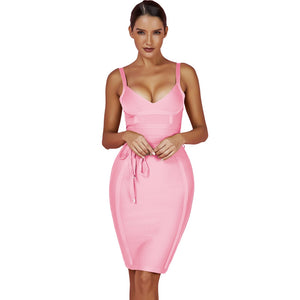 Strappy Sleeveless Lace Up Mini Bandage Dress FDZ003 39 in wolddress