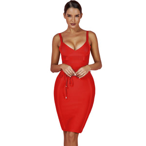 Strappy Sleeveless Lace Up Mini Bandage Dress FDZ003 35 in wolddress
