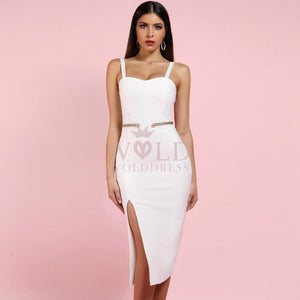 Strappy Sleeveless Slit Mini Bandage Dress PP1114 1 in wolddress