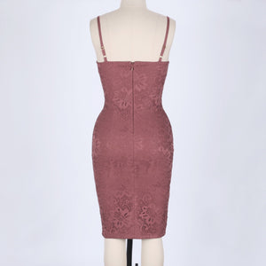 Strappy Sleeveless Lace Over Knee Bandage Dress HJ634 7 in wolddress