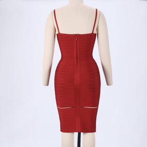 Strappy Sleeveless Cut Out Mini Bandage Dress HJ623 4 in wolddress