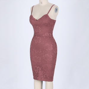 Strappy Sleeveless Lace Over Knee Bandage Dress HJ634 6 in wolddress