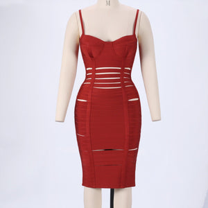 Strappy Sleeveless Cut Out Mini Bandage Dress PPHJ623