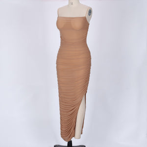 Strappy Sleeveless Mesh Maxi Bandage Dress SP061 4 in wolddress