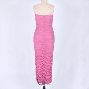 Strappy Sleeveless Ruched Maxi Bodycon Dress LY001 10 in wolddress