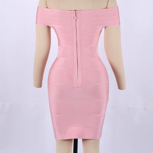 Off Shoulder Short Sleeve Hollow Out Mini Bandage Dress SW035 7 in wolddress