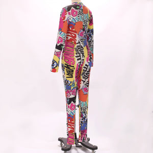 Halter Long Sleeve Printed Bodycon Jumpsuit HW311 3 in wolddress