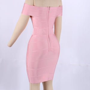 Off Shoulder Short Sleeve Hollow Out Mini Bandage Dress SW035 6 in wolddress