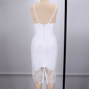 V Neck Sleeveless Lace Up Over Knee Bandage Dress HI949 7 in wolddress