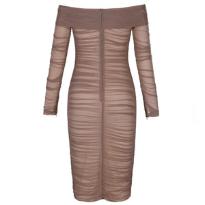 Off Shoulder Long Sleeve Ruched Mini Bodycon Dress FSP19054 7 in wolddress