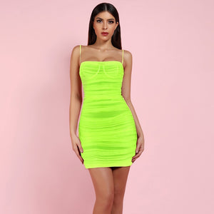 Strappy Sleeveless Mesh Mini Bodycon Dress FSP19067 1 in wolddress