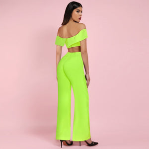 Off Shoulder Short Sleeve Bodycon Jumpsuit FSP19090 4 in wolddress