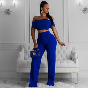 Off Shoulder Short Sleeve Bodycon Jumpsuit FSP19090 2 in wolddress