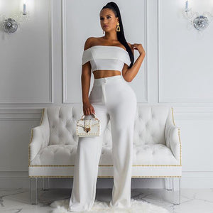 Off Shoulder Short Sleeve Bodycon Jumpsuit FSP19090 1 in wolddress