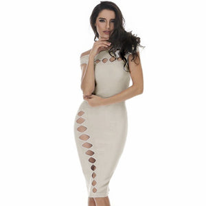 Off Shoulder Sleeveless Cut Out Mini Bandage Dress HD387 7 in wolddress