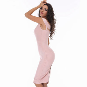 Off Shoulder Sleeveless Cut Out Mini Bandage Dress HD387 2 in wolddress