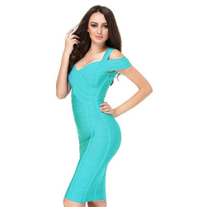 Round Neck Sleeveless Striped Mini Bandage Dress HG291 9 in wolddress