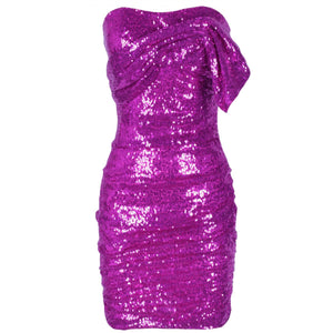 Strapless Sleeveless Sequined Mini Bodycon Dress HI1097 3 in wolddress