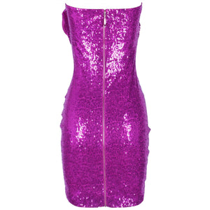 Strapless Sleeveless Sequined Mini Bodycon Dress HI1097 4 in wolddress