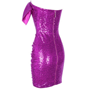 Strapless Sleeveless Sequined Mini Bodycon Dress HI1097 5 in wolddress
