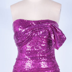 Strapless Sleeveless Sequined Mini Bodycon Dress HI1097 6 in wolddress