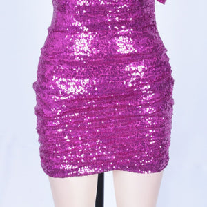 Strapless Sleeveless Sequined Mini Bodycon Dress HI1097 7 in wolddress