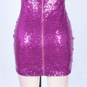 Strapless Sleeveless Sequined Mini Bodycon Dress HI1097 9 in wolddress