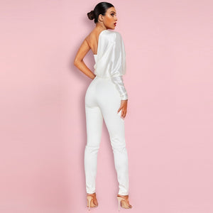 One Shoulder Long Sleeve Asymmetrical Bodycon Jumpsuit HI1109 2 in wolddress