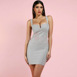 Strappy Sleeveless Cut Out Mini Bodycon Dress HI982 1 in wolddress