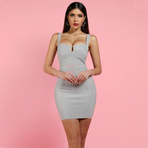 Strappy Sleeveless Cut Out Mini Bodycon Dress HI982 2 in wolddress