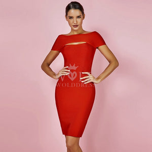 Off Shoulder Sleeveless Cut Out Mini Bandage Dress HK030 1 in wolddress
