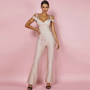 V Neck Short Sleeve Strapy Bandage Jumpsuit HK041 1 in wolddress