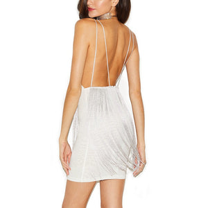Strappy Sleeveless Tassels Mini Bandage Dress HQ225 5 in wolddress