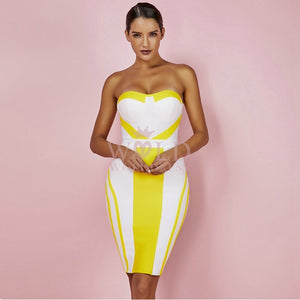 Strapless Sleeveless Mini Bandage Dress HQ253 1 in wolddress