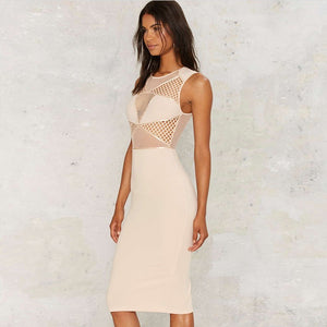 Round Neck Sleeveless Lace Mini Bandage Dress HT0073 2 in wolddress