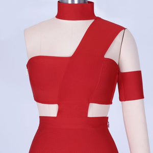Halter Sleeveless Cut out Midi Bandage Dress SP015 13 in wolddress