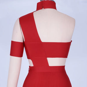 Halter Sleeveless Cut out Midi Bandage Dress SP015 14 in wolddress