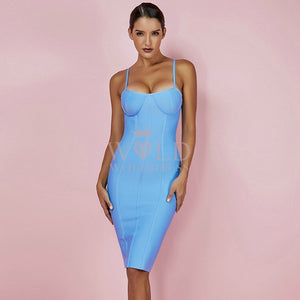 Strappy Sleeveless Striped Over Knee Bandage Dress PF0902 10 in wolddress