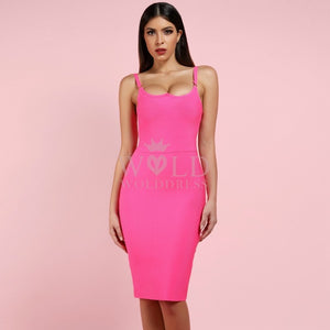 Strappy Sleeveless Midi Bandage Dress PF0904 2 in wolddress