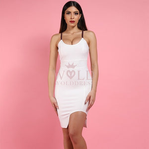 Strappy Sleeveless Cut Out Mini Bandage Dress PF1107 1 in wolddress