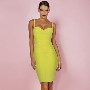 Strappy Sleeveless Plain Over Knee Bandage Dress PF19076 1 in wolddress